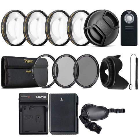 52mm UV CPL ND Kit with Replacement EN-EL14 Battery for Nikon D3200, D3300, D5200, D5300 and D5500
