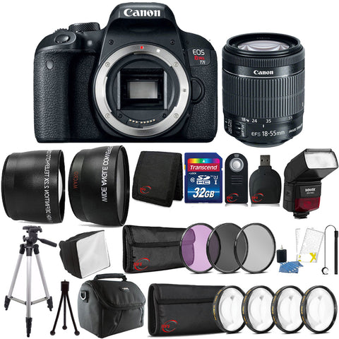 Canon EOS Rebel T7i 24.2MP DSLR Camera with 18-55mm IS STM Lens with Accessories
