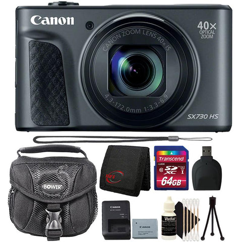 Canon Powershot SX730 HS Digital Camera (Black) with 64GB Ultimate Accessory Kit