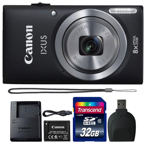 Canon IXUS 185 / ELPH 180 20MP Digital Camera Black with 32GB Accessory Kit