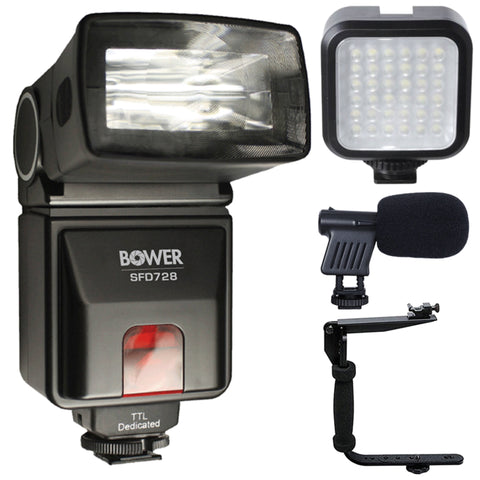 i-TTL Flash with Accessory Bundle For Nikon D7100 and D7200
