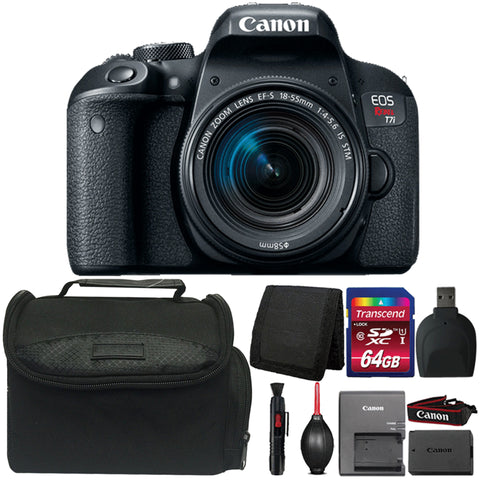 Canon EOS Rebel T7i 24.2MP Digital SLR Camera with 18-55mm IS STM Lens and Accessory Bundle