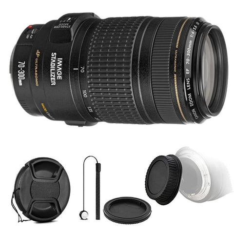 Canon EF 70-300mm f/4-5.6 IS USM Lens with Accessory Bundle for Canon T6 , T6i and T7i