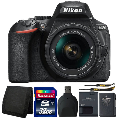 Nikon D5600 24.2MP Digital SLR Camera with 18-55mm Lens and Accessory Bundle