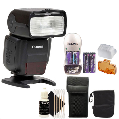 Canon Speedlite 430EX iii-RT Flash with Accessories for Canon DSLR Cameras