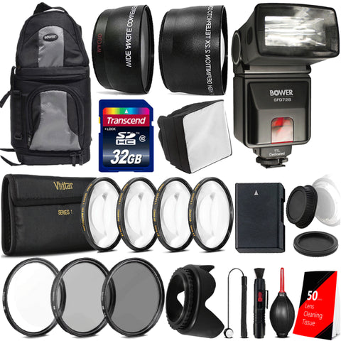 i-TTL Flash with Ultimate Accessory Bundle For Nikon D5300 and D5600
