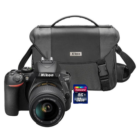 Nikon D5600 24.2MP Wi-Fi D-SLR Camera with 18-55mm Lens, 32GB Card and Camera Case