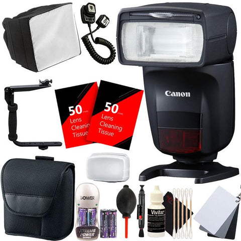 Canon Speedlite 470EX-AI Hot-Shoe Flash with Auto Intelligent Bounce Function + Ultimate Flash Accessory Kit