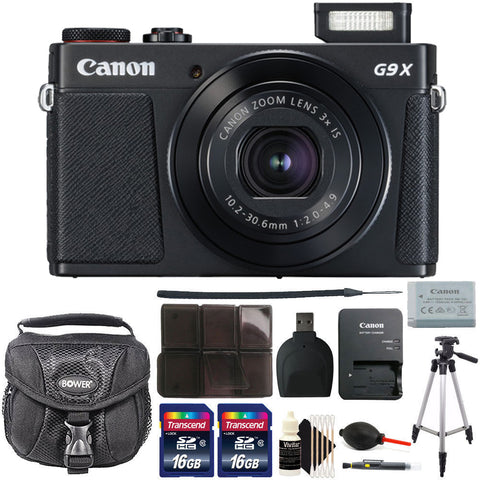 Canon PowerShot G9X Mark II Digital Camera 3x Optical Zoom with Accessory Kit