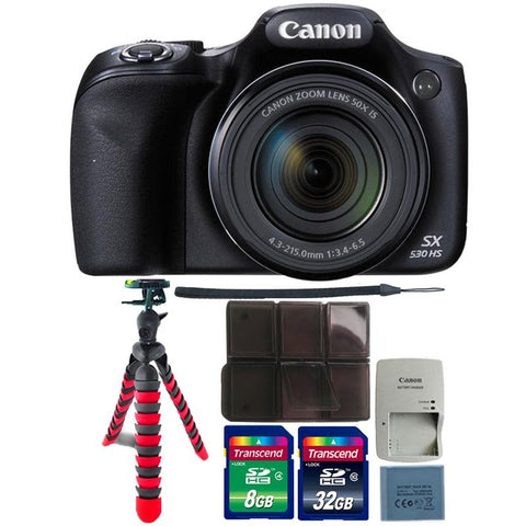 Canon PowerShot SX530 HS Digital Camera with Ultimate Accessory Bundle