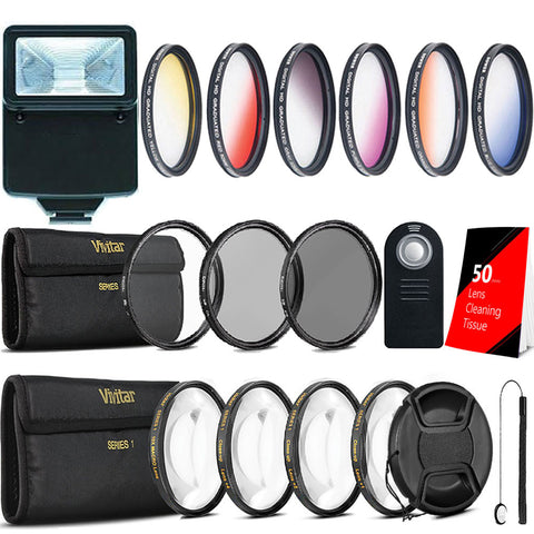 58mm Color Filters with Accessory Kit For Canon DSLR Cameras