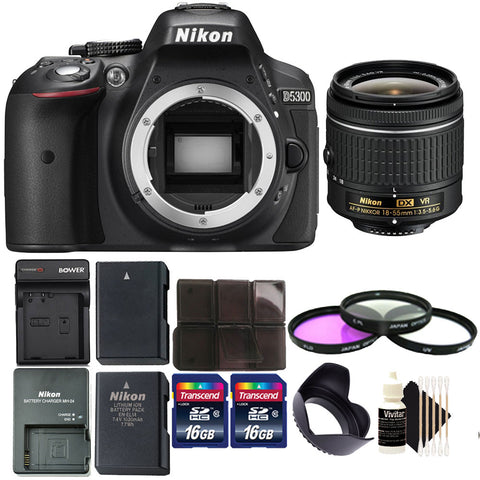 Nikon D5300 DSLR Camera with 18-55mm VR Lens and Accessories