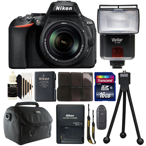 Nikon D5300 24.2MP DSLR Camera with 18-140mm VR Lens , Slave Flash and Accessory Kit