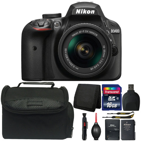 Nikon D3400 Digital SLR Camera with 18-55mm Lens and Ultimate Accessory Bundle