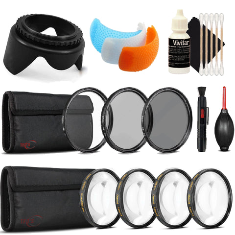 58mm Filter Kit with Accessories for Canon EOS 77D , 80D  and 1300D