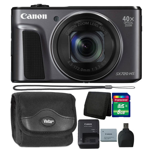Canon PowerShot SX720 HS 20.3MP Digital Camera 40x Optical Zoom Black with Ultimate Accessory Kit