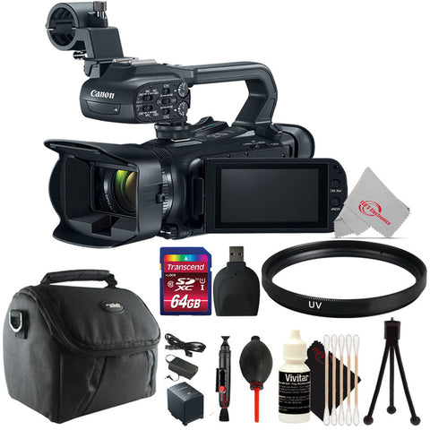 Canon XA11 Compact Full HD 20x Optical Zoom Camcorder-PAL with UV Filter Top Accessory Kit