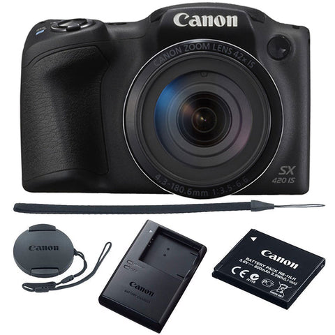 Canon PowerShot SX420 IS HD 20MP Wi-Fi Digital Camera