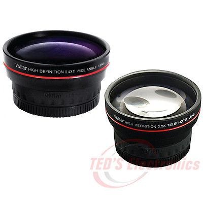 58mm Telephoto and Wide Angle Lens For Canon EOS Rebel T6 , T6s , T6i , T5 , T5i and T4i