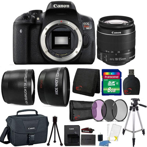 Canon EOS Rebel T6 18MP DSLR Camera with 18-55mm Lens , Canon 100ES Case and Accessories