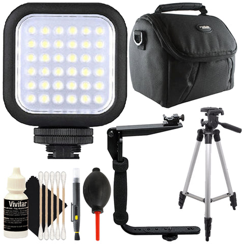 Bower VL8K Compact LED Light with Accessory Kit