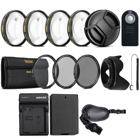 Complete 58mm Lens Accessory Kit with LP-E8 Replacement Battery and Charger