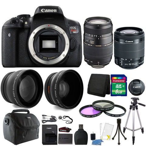 Canon EOS Rebel T6 18MP DSLR Camera with 18-55mm IS STM Lens , 70-300mm Lens and Accessories