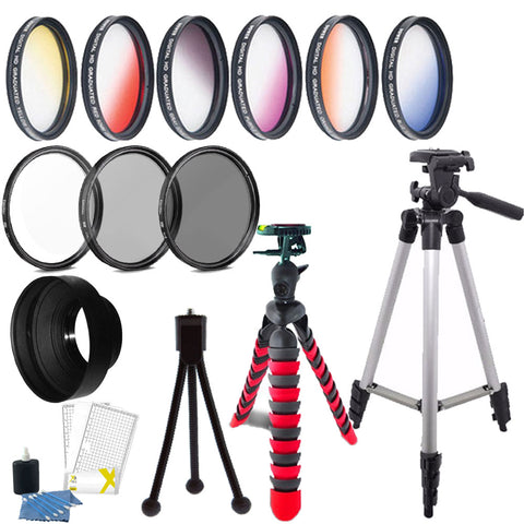 58mm Color Filters with Accessories For Nikon D3300 , D3400 , D5300 , D5500 , D5600 , D7100 and D7200