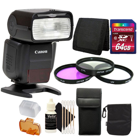 Canon Speedlite 430EX iii-RT Flash with Accessories for Canon T5 , T5i and T6