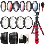 52mm Color Filter Kit with Accessories for Nikon DSLR Cameras