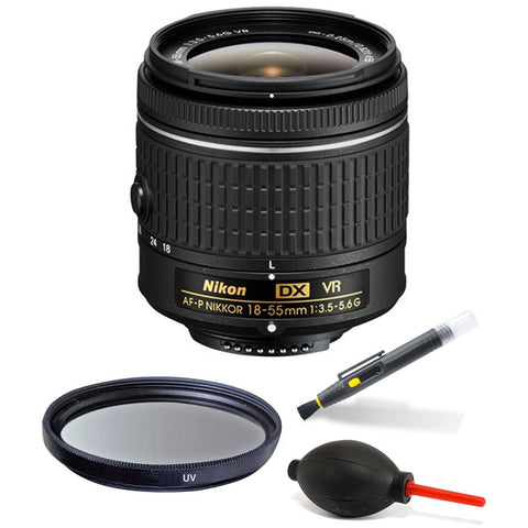 Nikon 18-55mm f/3.5-5.6G VR AF-P DX Nikkor Lens Accessory Kit for Nikon D5300