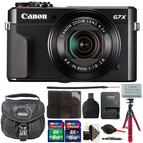 Canon PowerShot G7x Mark II 20.1MP Digital Camera 4.2x Optical Zoom with Accessory Bundle