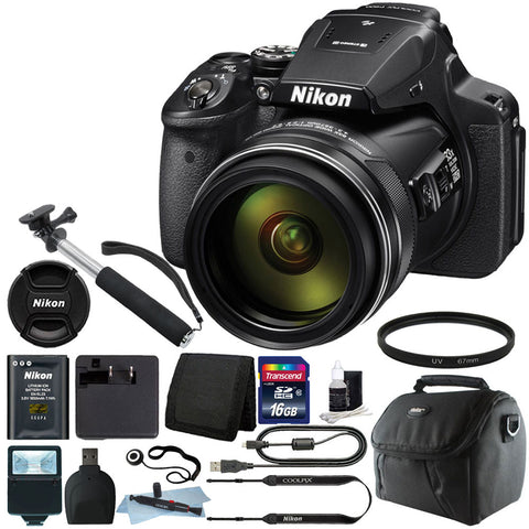 Nikon Coolpix P900 Digital Camera 83x Optical Zoom with Accessory Bundle