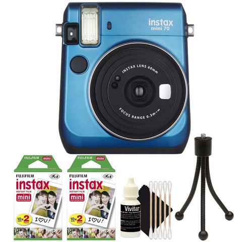 Fujifilm Instax Mini 70 Instant Film Camera Blue with Accessories