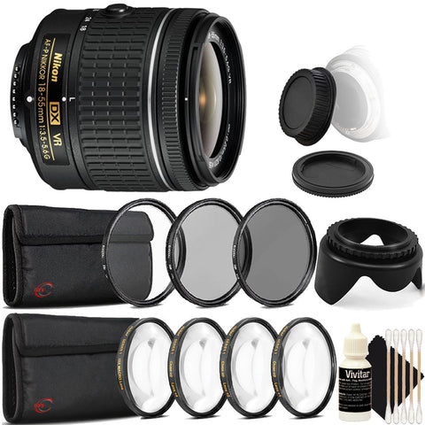 Nikon AF-P DX NIKKOR 18-55mm f/3.5-5.6G VR Lens with Accessories For Nikon D3300 , D3400 , D5300 , D5500 , D7100 and D7200