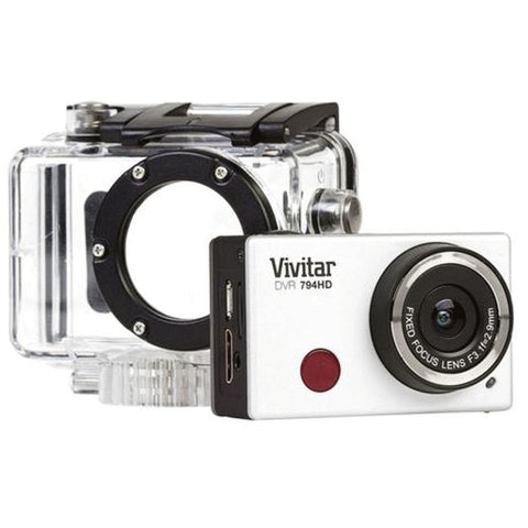 Vivitar DVR794HD WiFi Waterproof Action Video Camera Camcorder Silver with Accessory Kit