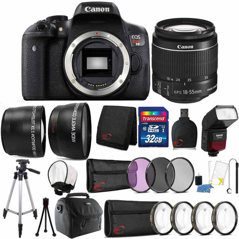 Canon EOS Rebel T6 18MP DSLR Camera with 18-55mm Lens , TTL Flash and Accessory Bundle