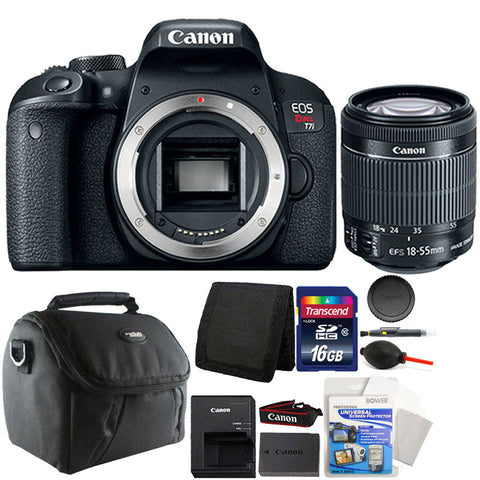Canon EOS Rebel T7i 24.2MP DSLR Camera with 18-55mm Lens and 16GB Accessory Kit