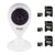 Vivitar IPC Wifi Security Camera with Night Vision + 3x 32GB Memory Cards