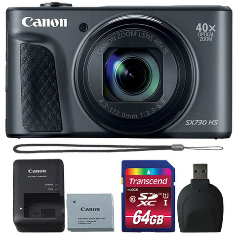 Canon Powershot SX730 HS Digital Camera (Black) with Accessories