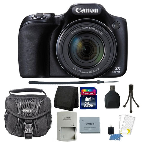 Canon PowerShot SX530 Digital Camera Black + Accessory Bundle
