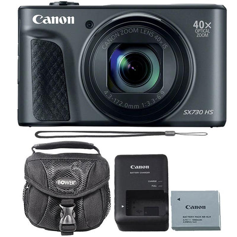 Canon Powershot SX730 HS Digital Camera (Black) with Camera Case