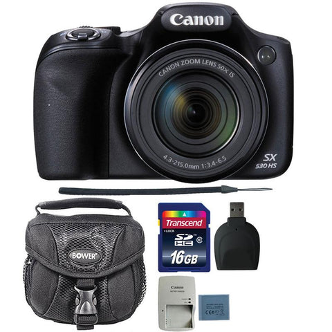 Canon PowerShot SX530 HS Digital Camera with 16GB Accessory Bundle