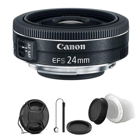 Canon EF-S 24mm f/2.8 STM Lens with Accessory Bundle for Canon Digital SLR Cameras
