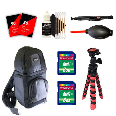 Camera BackPack with Accessory Kit For Canon DSLR Cameras