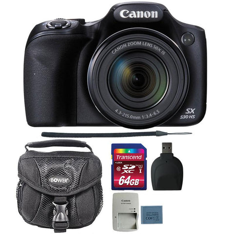 Canon PowerShot SX530 HS Digital Camera with 64GB Accessory Kit