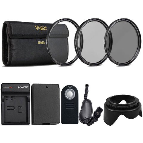 58mm Accessory Kit with LP-E8 Replacement Battery and Charger for Canon Cameras