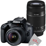 Canon EOS 4000D Rebel T100 18MP Digital SLR Camera with 18-55mm and Canon 55-250 IS II Lens