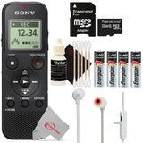 Sony ICD-PX370 Digital Voice Recorder with Headphone Jacks with JBL Tune 110BT Wireless Headphones Kit