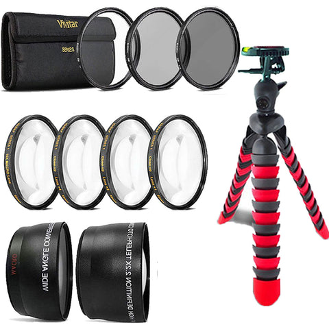 58mm Fisheye Wide Angle and Telephoto Lens Accessory Kit for Canon DSLR Cameras